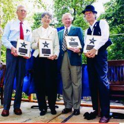 William Danforth, Harriett Woods, Dick Weber and John Hartford, 1999