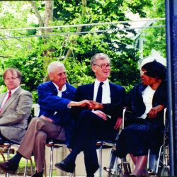 Leonard Slatkin, Howard Nemerov, William Danforth and Willie Mae Ford Smith, 1990